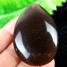 Brown Cat Eye Teardrop Pendant Bead 48*34*10mm HMY35