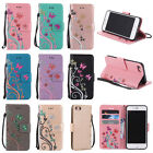 Flip Leather Embossed Flower Magnetic Stand Cover Case for iPhone 4 5 6 7 S Plus