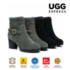 UGG Boots Nicole - Ladies Fashion High Heel, Australian wool lining, Nice Buckle