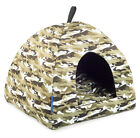 Ancol Green Camo Pyramid Bed Cat Small Dog Puppy Soft Bed Washable House Igloo