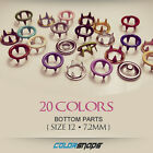 SIZE 12 SMALL | Colour Metal Ring Prong Press Snap No Sew Button Popper Gripper
