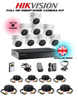 Hikvision 1 to 8 Camera Kits - 2mp Dome 40M IR Full HD 1080p 4/8 Channel DVRs