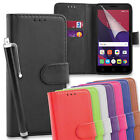 Magnetic PU Leather Wallet Flip Case Cover for Alcatel Pixi 4 (5) + Long Stylus