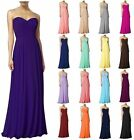 New Long Formal Evening Ball Gown Party Prom Bridesmaid Dress Stock Size 6-22