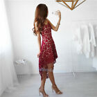 Купить Women Summer Sleeveless Evening Party Cocktail Short Mini Lace Dress US shipping