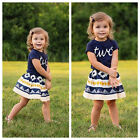 Skirt Dress Clothing Sets Summer Children Girl Clothes Cartoons Kids Ropa Outfit