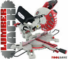 "Lumberjack 210mm 8"" 1500W Sliding Compound Bevel Mitre Chop Saw with Laser 240v"