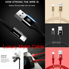 LOT !  Baseus 1M Lightning Sync Data Cable  Metal Braided Fast Charger Fr Apple