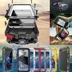 Aluminum Metal Shockproof Waterproof Glass Case Cover fr iPhone X 8 7 6s 6 Plus