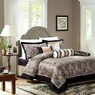 LUXURY 7 Piece Paisley Pattern Jacquard Bedspread:Comforter Set With PillowCases