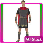 Mens Roman Soldier Costume Gladiator Hercules Toga Medieval Halloween Outfits