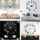 MODERN DIY Large Wall Clock 3D Mirror Surface Sticker Home Decor Art Design G1