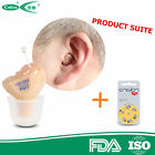 Invisible Hearing Aid Aids Enhancer  inner Ear Sound Amplifier batteries R