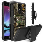 Hybrid Holster Hard Armor Shockproof Camo Case Cover for LG Phoenix 3 / Fourtune