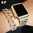 MEN'S HIP HOP ICED OUT DIGITAL TOUCH SCREEN WATCH & CUBAN BRACELET COMBO SET  image