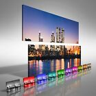 Londons Financial District At Twilight Double Canvas Print Large Picture Wall
