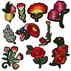 10PCS Flower Patches Applique Embroidered Iron on Patch for Clothes Accessories