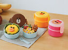 LINE Friends Circular 2 Stage Lunch Box Character Food Storage Containers Picnic