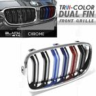 Dual Fin Sport Tri Kidney Front Grille for BMW 3 Series F30 F31 12-16 *5 Version