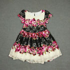 NEW GIRLS Children Kid's Clothes Short sleeve Floral Lace Party Dress