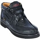 Los Altos Genuine BLACK Ostrich Leg Casual Shoes Lace Up D