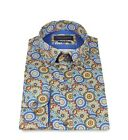 Guide London LS74232 Psychedelic Floral With Circle Spirograph Surround Shirt