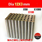 LOT N50/N35 12X3mm Strong Ring/Disc Magnet Round Hole 4mm Rare Earth Neodymium