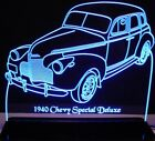 """1940 Chevy Special Deluxe Edge Lit Awesome 21"""" Lighted Sign LED Plaque 40 VVD1"""