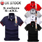 Kyпить 6 Colors Slim Fit Men Badge T-shirt short Sleeve Lapel Polo Shirt Casual Tee New на еВаy.соm