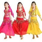 Children Belly Dance Performance Top Skirt Costume Girls Hollywood Party Outfit