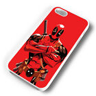 RED DEADPOOL RUBBER PHONE CASE COVER FITS IPHONE 4 5 6 7 (#WR)