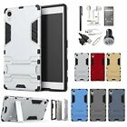 Slim Hybrid ShockProof Case Cover Headset Charger Accessory Kit For Sony Xperia
