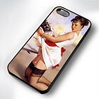 VITNAGE PIN-UP GIRL CHEF RUBBER PHONE CASE COVER FITS IPHONE 4 5 6 7 (#BR)