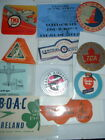ORIGINAL 1930s to 60s AIRLINE LABELS ALLEGHENY AVIANCA LUFTHANSA CONTINENTAL etc