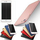 Tempred Glass Protector Frosted Ultra Slim Matte Hard Back Case Cover For iPhone