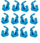 12 new blue mdpe clips, choose 20mm, 25mm, 32mm size.
