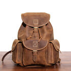 Men's Vintag Leather Backpack Genuine Cowhide Rucksack Daypack Laptop Bag UK