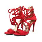 womens shoes Fashion Lace Up High Heel Stiletto Pumps Sandals wedding Shoes