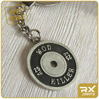 Crossfit Keychain Bamper Plate Weights Sport Key Chain Ring Fitness Bag Charm