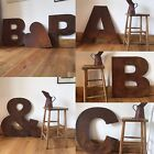 XL 70 cm industrial letters metal numbers symbols shop sign name lettering rusty