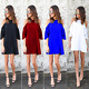 Fashion Women Off Shoulder Ruffles T-shirt Casual Clubwear Beach Mini Dress