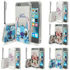 Silicone TPU Cell Phone Protector Cover Cartoon Disney For Apple 5/ 5S/ SE