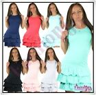 Women's Mini Dress Everyday Casual Ladies Summer Dress Short One Size 6,8,10,12