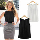 HOT Women Summer Loose Sleeveless Casual Tank T-Shirt Blouse Tops Vest Solid