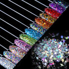 Nail Flakes Glitter Sequins Paillette Rhombus 3D Decoration Tips DIY