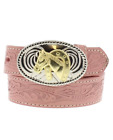 Belt Nocona Pink embossed Girls Horse Buckle Country and Western