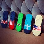 Male Socks Lot Cotton Warm Fashion Shallow Mouth And Flag Pattern Good-selling