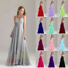 Long Chiffon Bridesmaid Formal Gown Ball Party Evening Homecoming Prom Dress