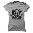 This Girl Loves Camping With Her Husband Women's T-Shirt B12