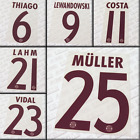 Bayern Munchen 2016-17 UCL third, Sporting-ID official printings, name sets